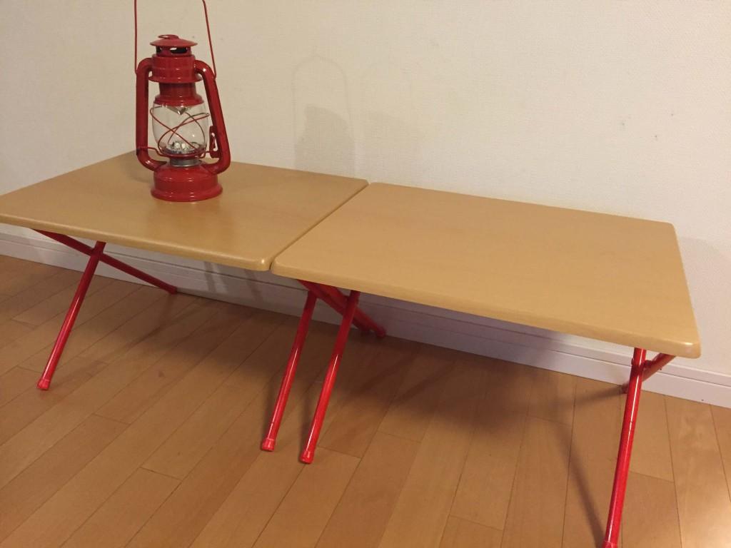 ニトリローテーブル2個横置き