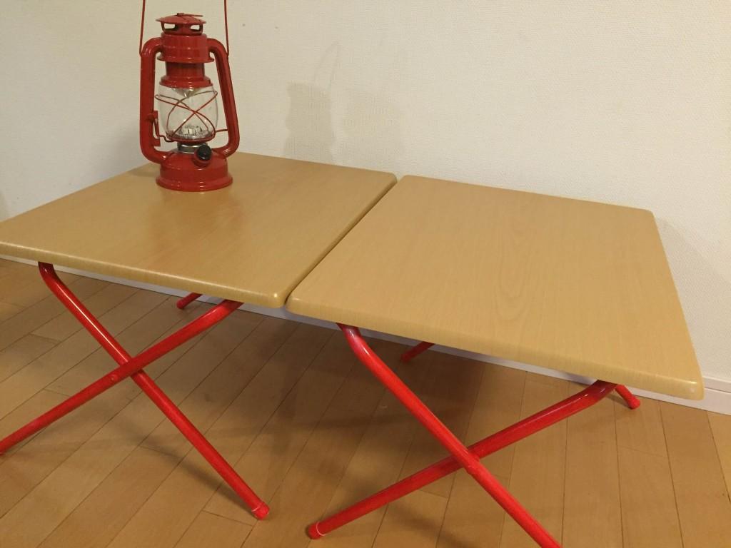 ニトリローテーブル2個縦置き
